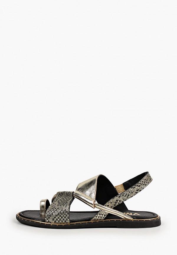 женские сандалии vm7, золотые