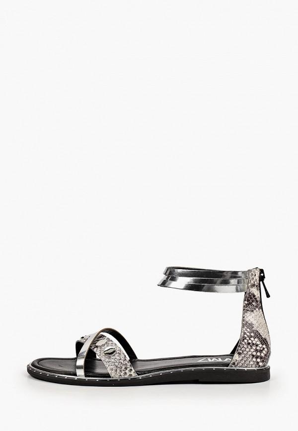 женские сандалии vm7, серебряные