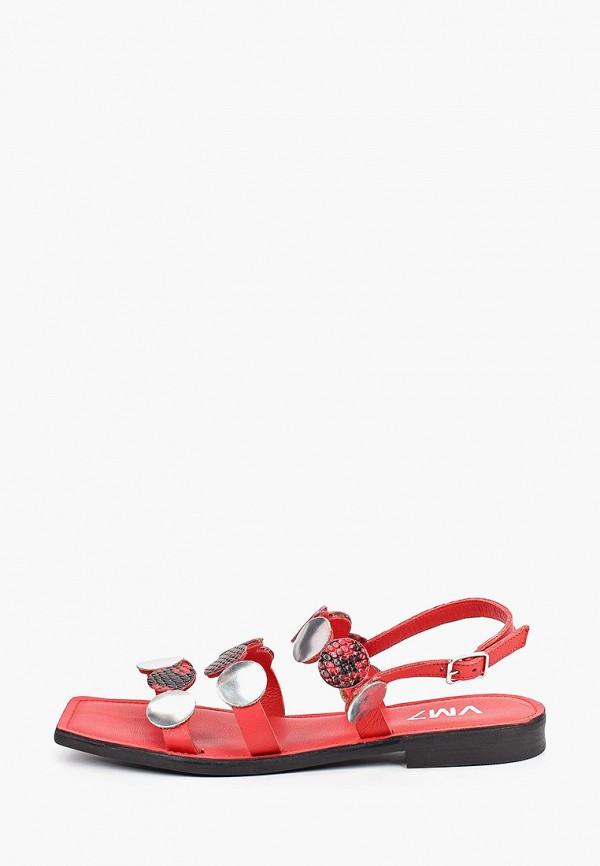 женские сандалии vm7, красные
