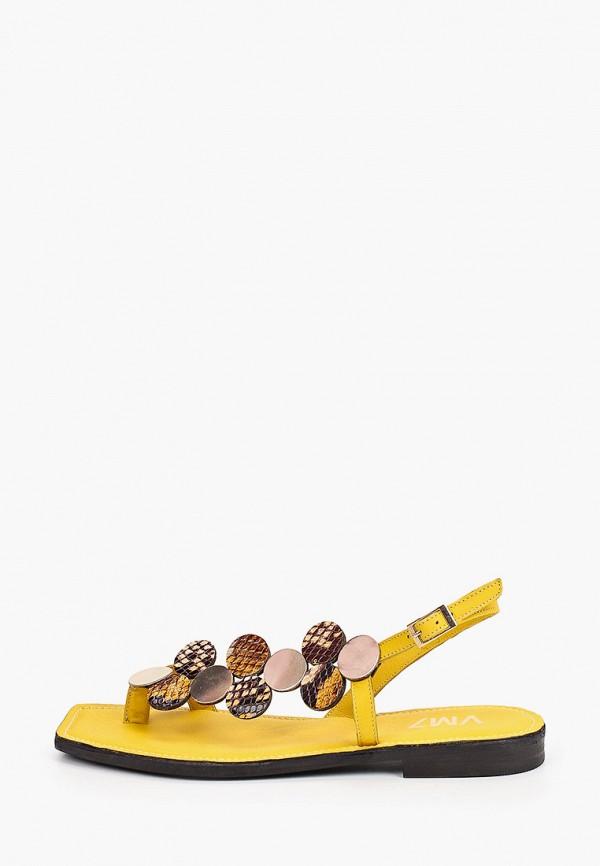женские сандалии vm7, желтые
