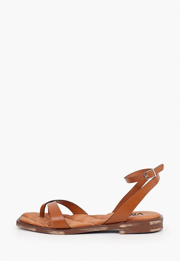 женские сандалии vm7, коричневые