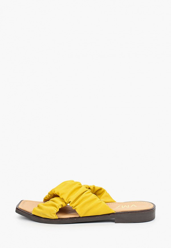 женское сабо vm7, желтое