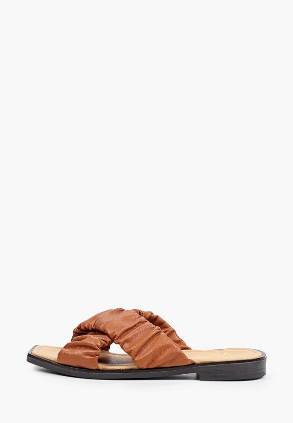 женское сабо vm7, коричневое