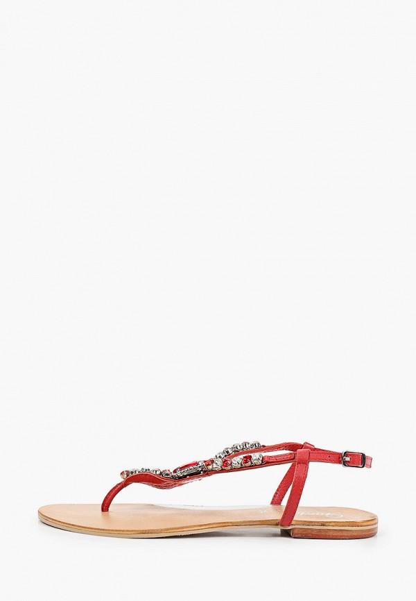 женские сандалии gardini spirit, красные