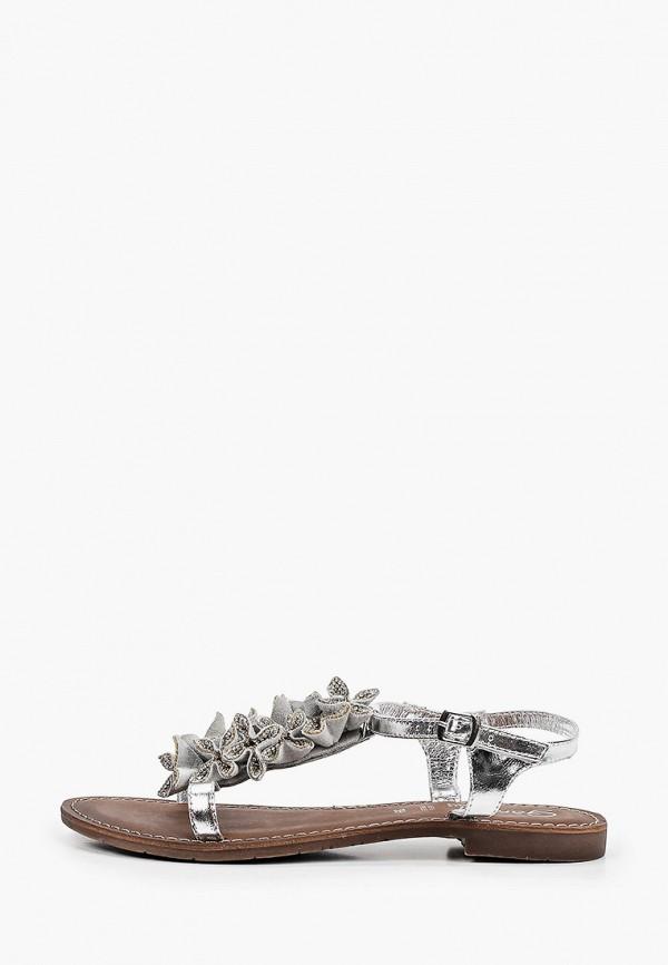 женские сандалии gardini spirit, серебряные
