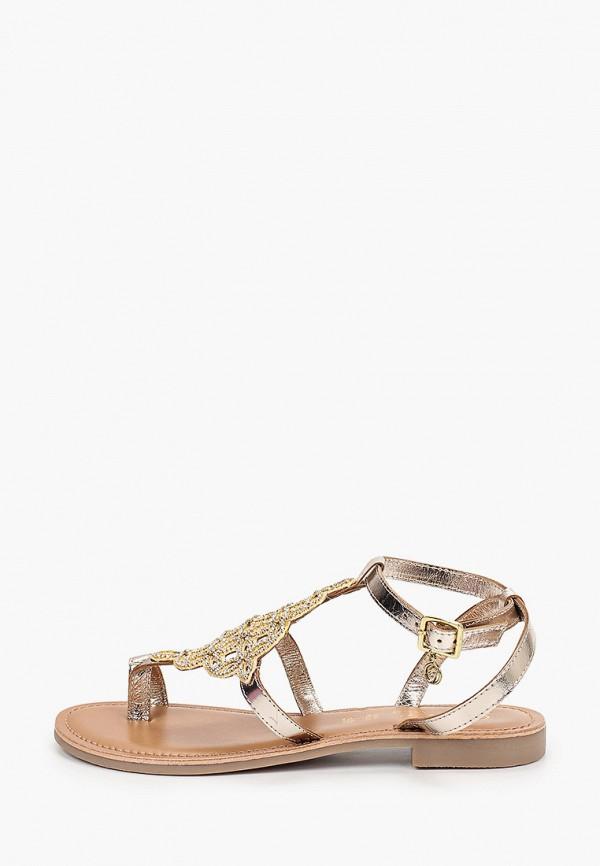 женские сандалии gardini spirit, золотые