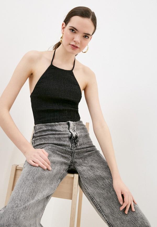 женский топ cotton on, черный