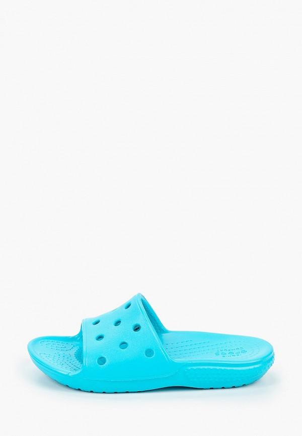 сланцы crocs малыши, бирюзовые
