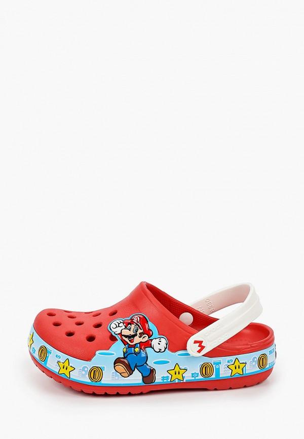 сабо crocs для девочки, красное