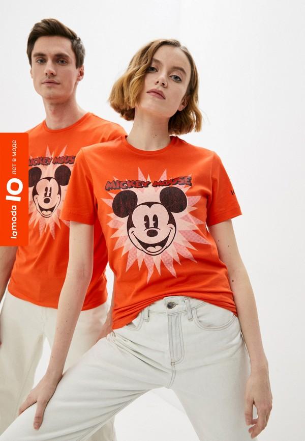 женская футболка с коротким рукавом iceberg, оранжевая