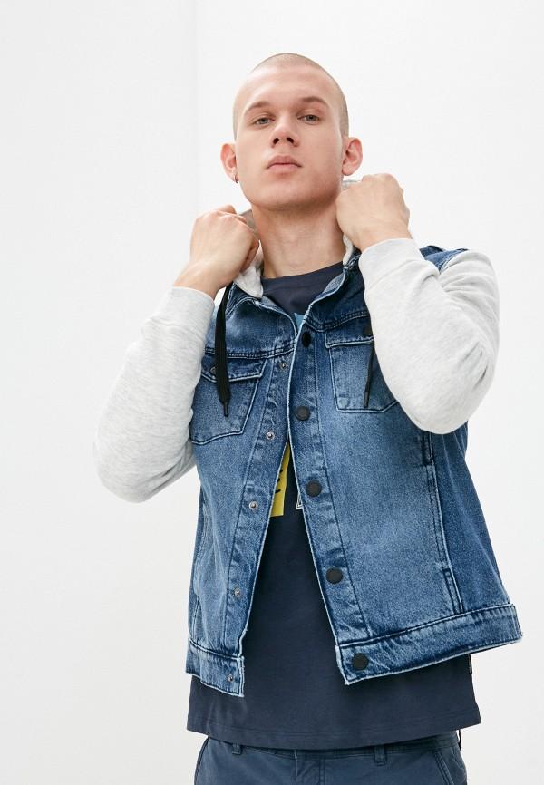 мужская джинсовые куртка j. hart & bros, синяя