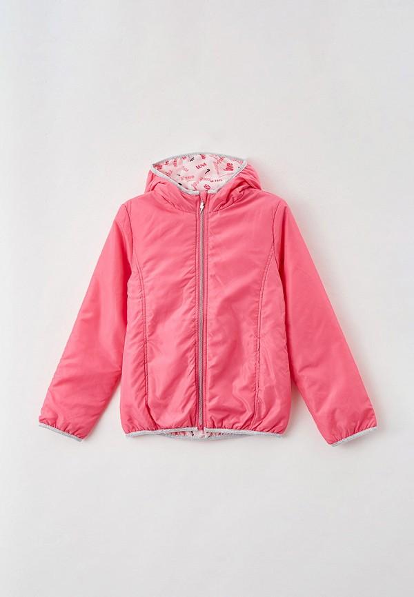 утепленные куртка blukids для девочки, розовая