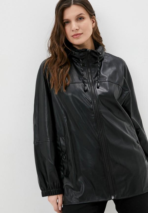 женская кожаные куртка rosa thea, черная