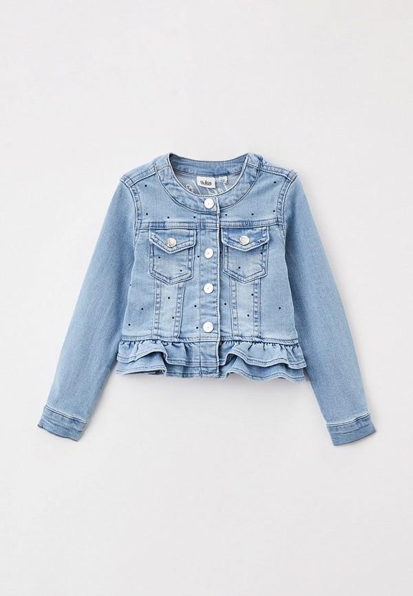 куртка blukids для девочки, голубая