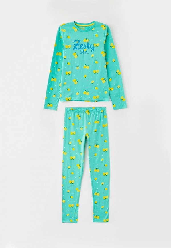 пижама blukids для девочки, зеленая