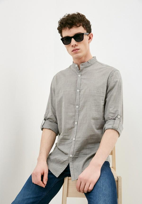 мужская рубашка с длинным рукавом j. hart & bros, серая