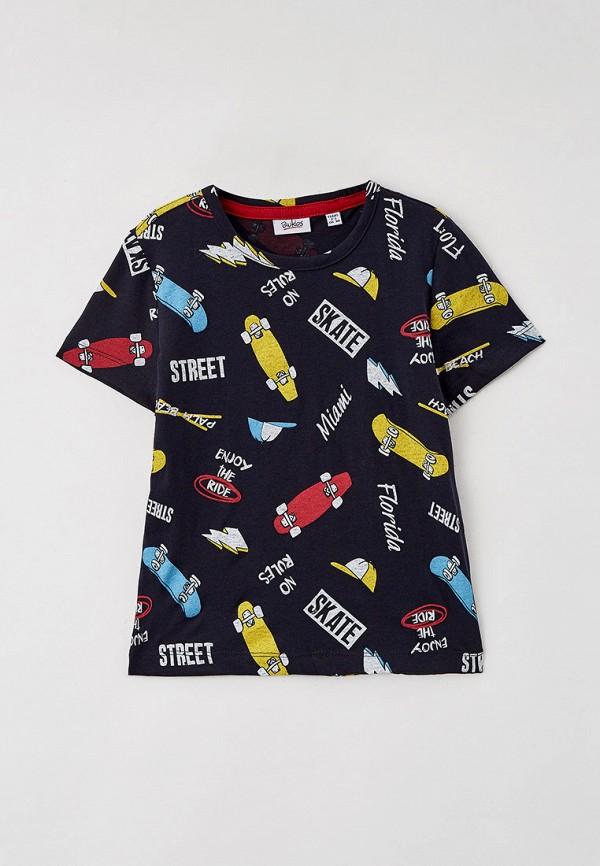 футболка с коротким рукавом blukids для мальчика, черная