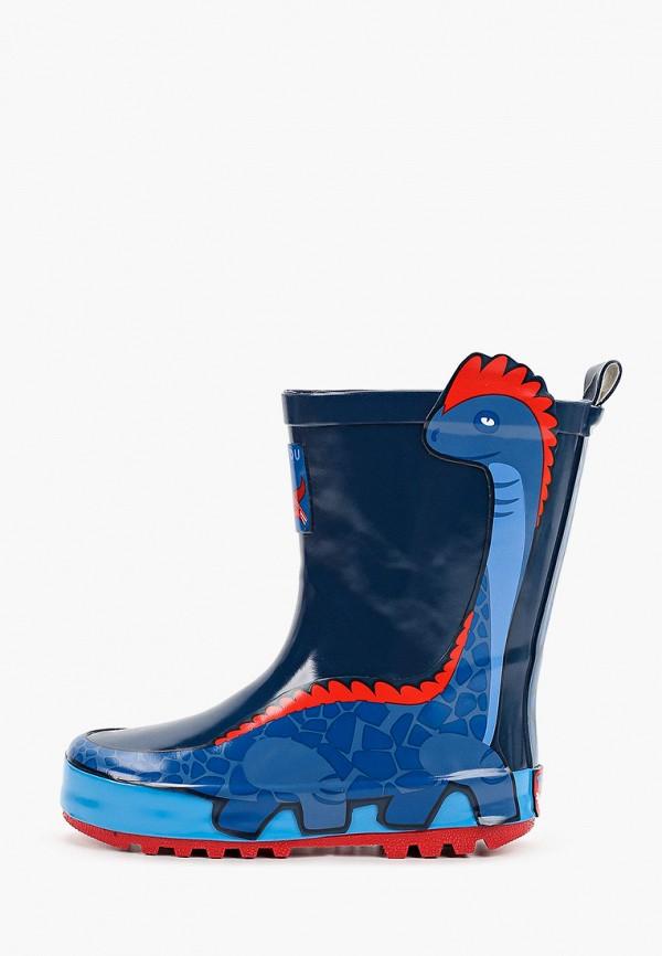 резиновые сапоги kakadu для мальчика, синие