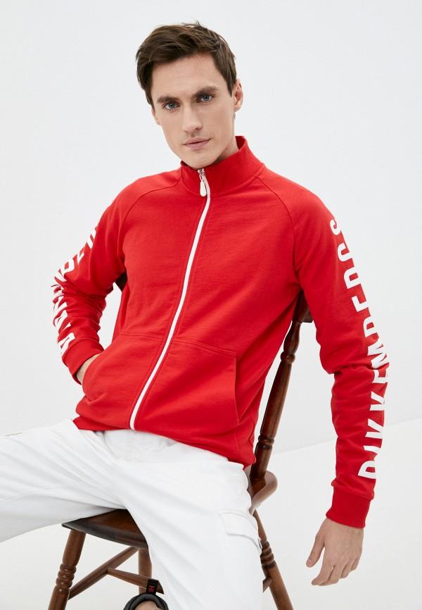 мужская олимпийка bikkembergs, красная
