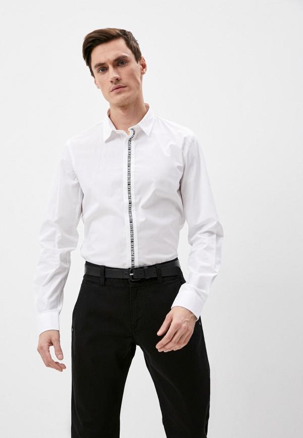 мужская рубашка с длинным рукавом bikkembergs, белая
