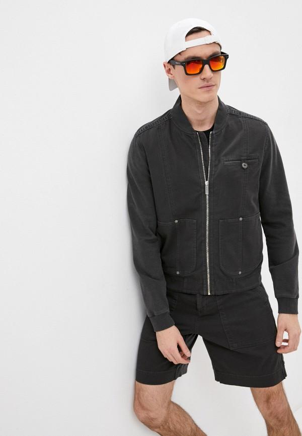 мужская куртка bikkembergs, серая