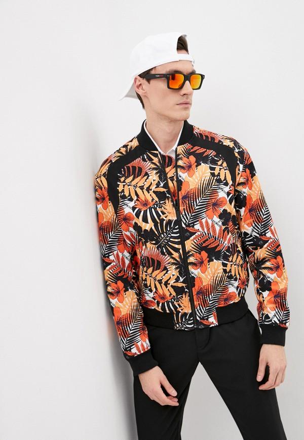 мужская куртка bikkembergs, оранжевая
