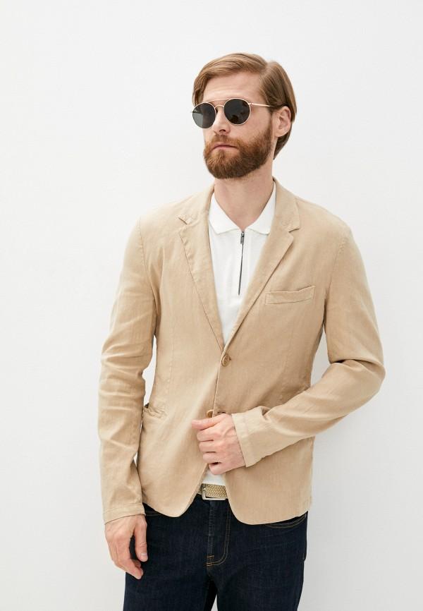 мужской пиджак bikkembergs, бежевый