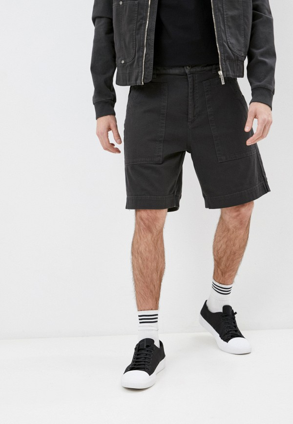 мужские повседневные шорты bikkembergs, серые