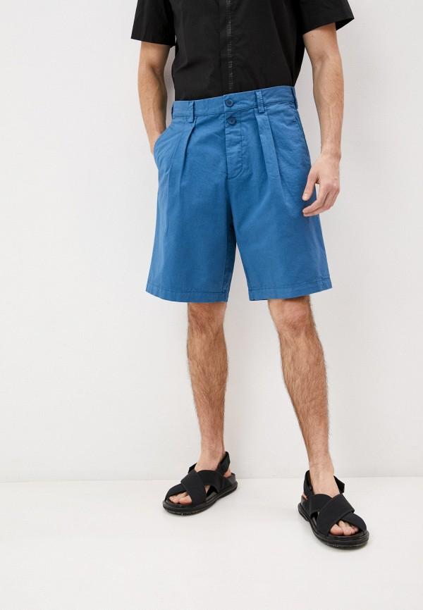 мужские повседневные шорты bikkembergs, голубые