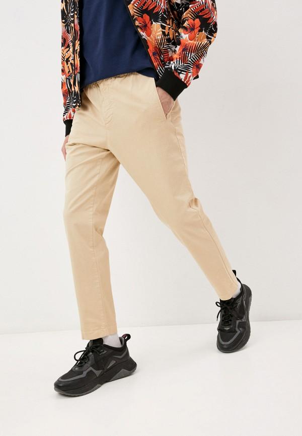 мужские повседневные брюки bikkembergs, бежевые