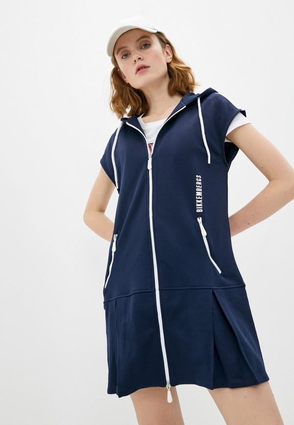 женское платье bikkembergs, синее