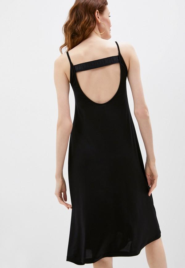 женское платье bikkembergs, черное