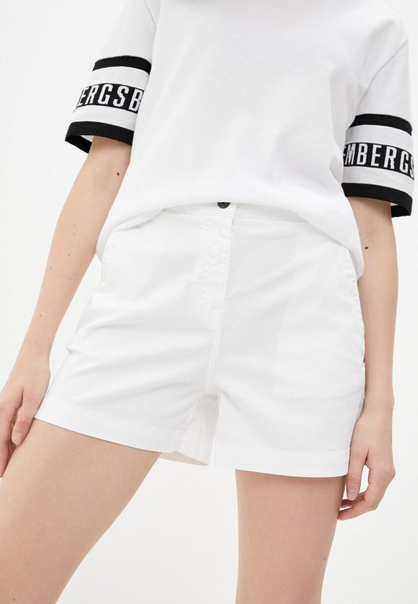 женские повседневные шорты bikkembergs, белые