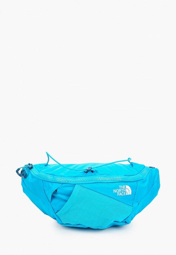 женская поясные сумка the north face, голубая