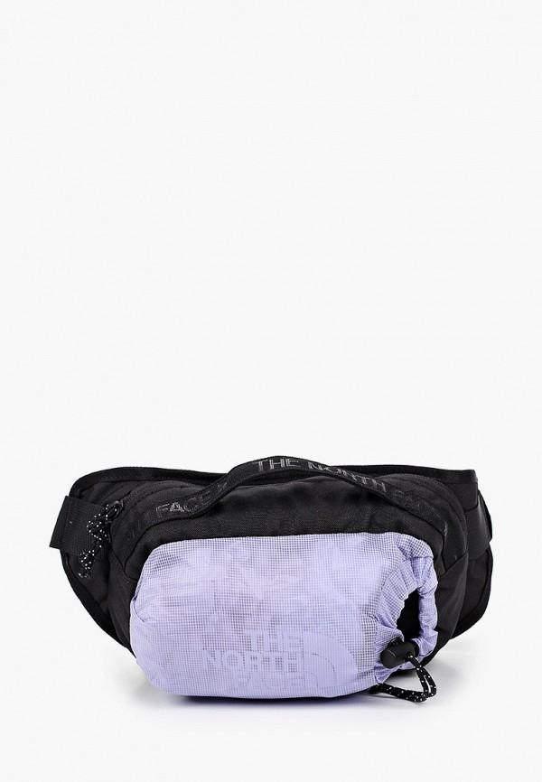 женская поясные сумка the north face, фиолетовая
