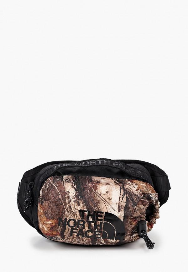 женская поясные сумка the north face, коричневая