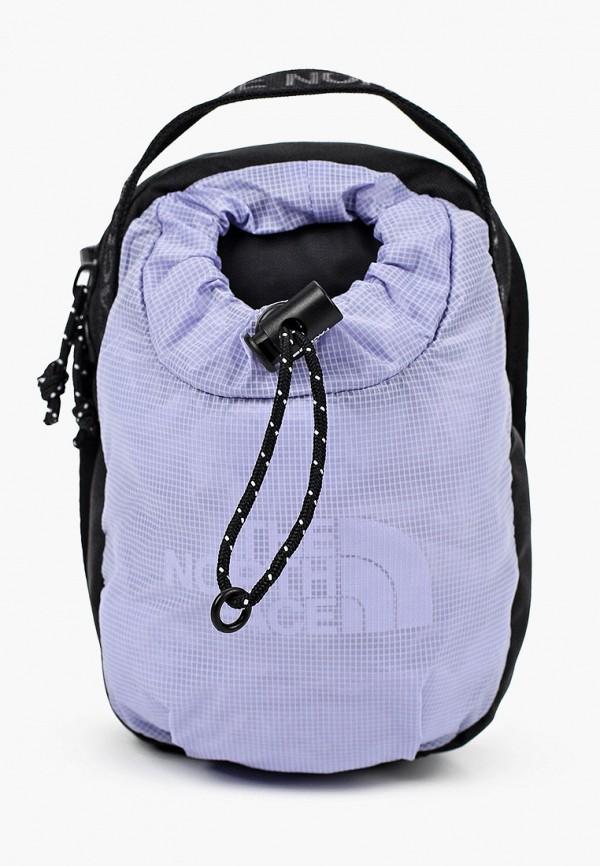 женская сумка через плечо the north face, фиолетовая