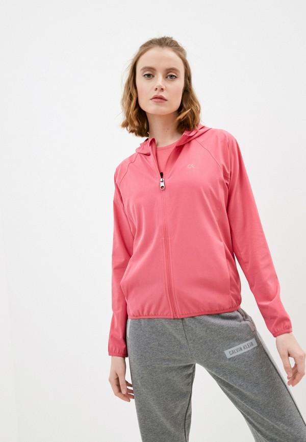 женская ветровка calvin klein, розовая