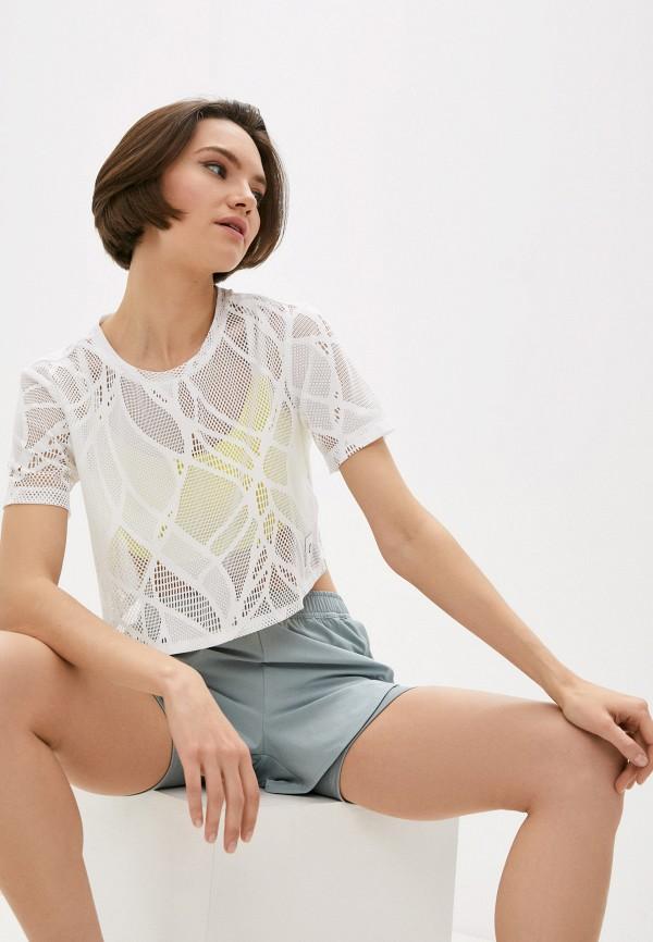 женская спортивные футболка calvin klein, белая