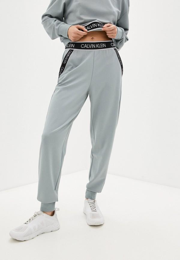 женские спортивные брюки calvin klein, бирюзовые