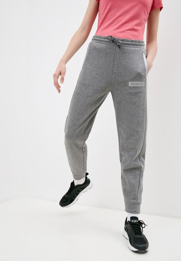 женские спортивные брюки calvin klein, серые