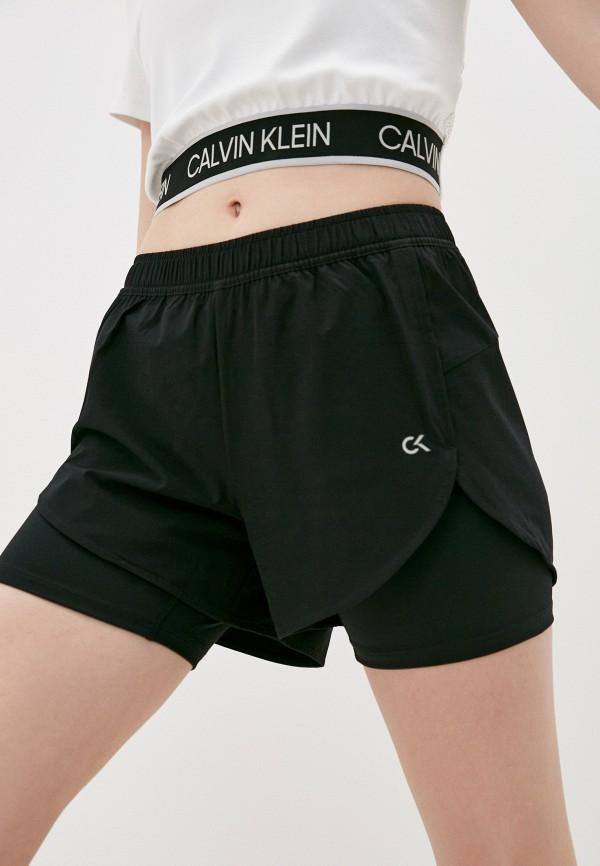 женские спортивные шорты calvin klein, черные