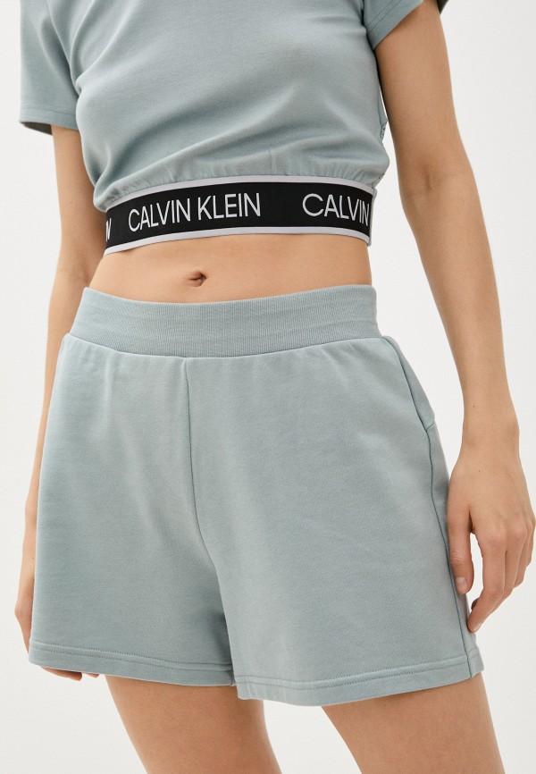 женские спортивные шорты calvin klein, голубые