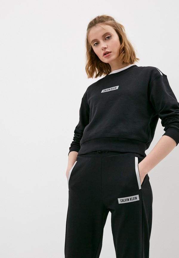 женский спортивные свитшот calvin klein, черный