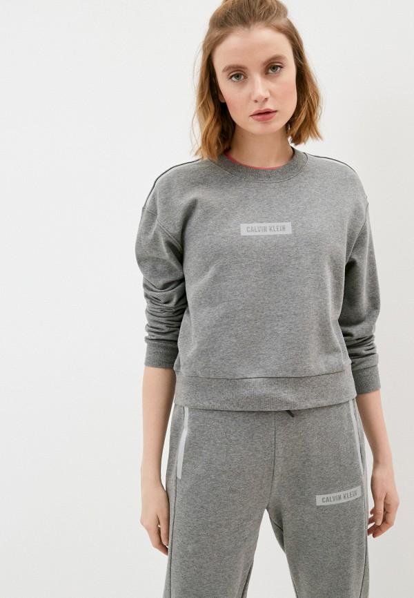 женский спортивные свитшот calvin klein, серый