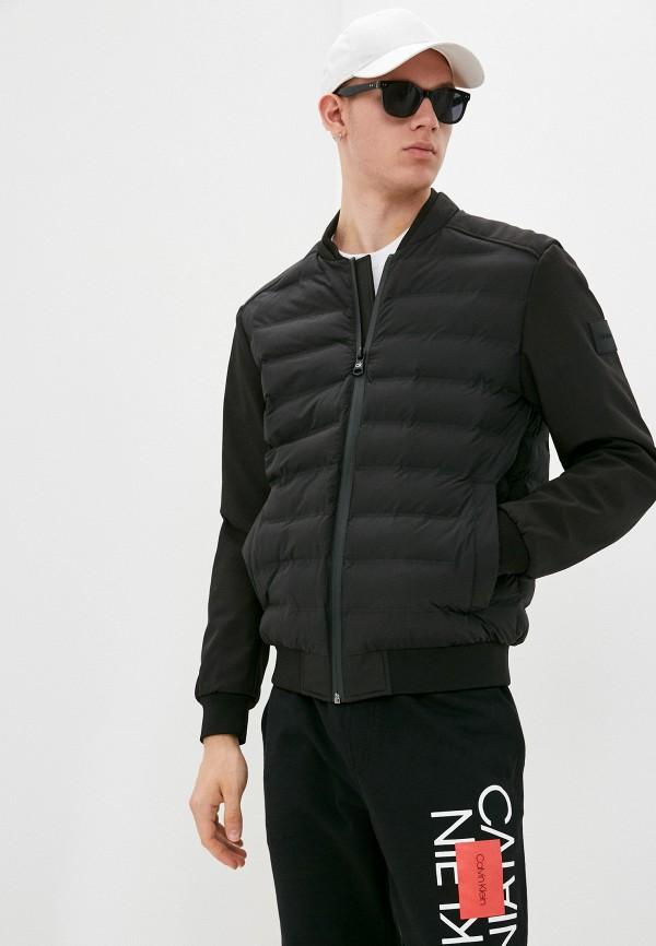 мужская куртка бомбер calvin klein, черная