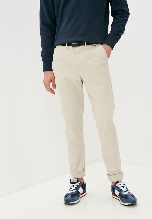 мужские брюки чинос calvin klein, бежевые