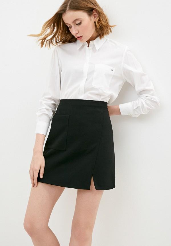 женская рубашка с длинным рукавом calvin klein, белая