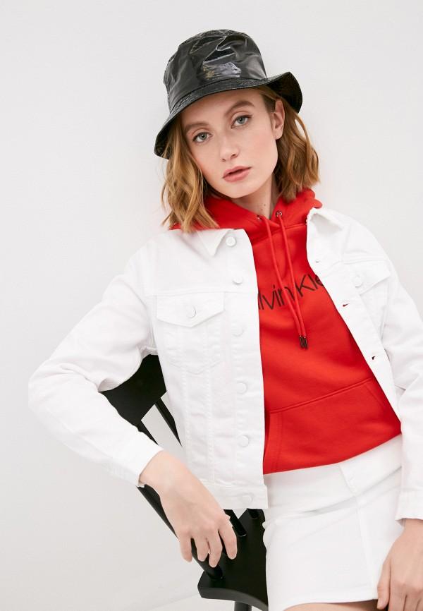 женская джинсовые куртка calvin klein, белая