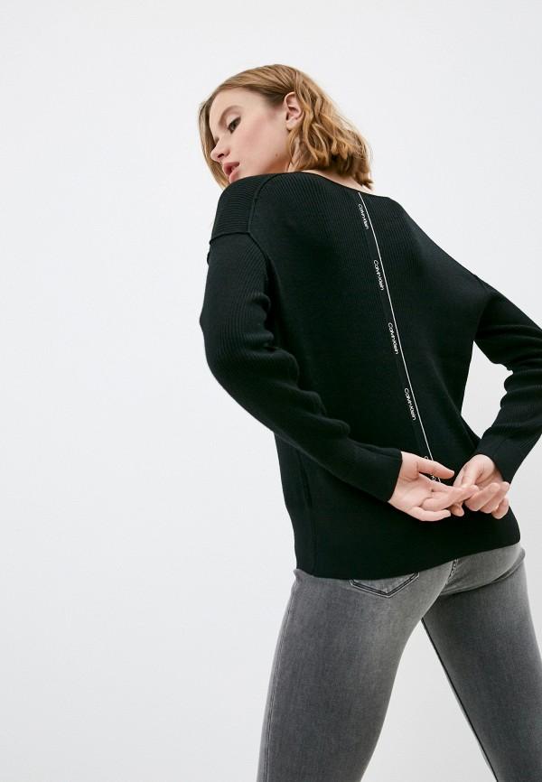 женский пуловер calvin klein, черный